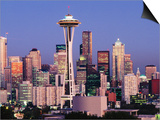 Skyline from Quenn Anne Hill with the Needle, Seattle, Washington Posters by John Elk III