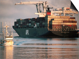 Port of Oakland, Container Ship at Dock, Oakland, California Art by John Elk III