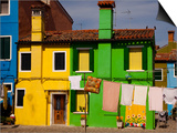 Colorful Houses and Laundry Prints by Dennis Walton