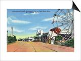 New Orleans, Louisiana - Pontchartrain Beach Amusement Park Kunstdrucke von  Lantern Press