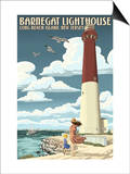 Barnegat Lighthouse - New Jersey Shore Prints by  Lantern Press