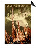 Carlsbad Caverns National Park, New Mexico - The Totem Pole Posters by  Lantern Press