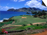 Golf Course Overlooking the Picturesque Hanamaulu Bay Print by Christina Lease