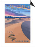 Mesquite Dunes - Death Valley National Park Art by  Lantern Press