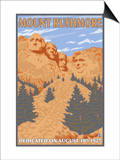 Mount Rushmore National Park, South Dakota Prints by  Lantern Press