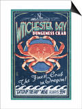 Winchester Bay, Oregon - Dungeness Crab Posters by  Lantern Press