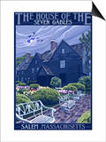 The House of the Seven Gables - Salem, Massachusetts Prints by  Lantern Press