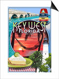 Key West, Florida - Montage Prints by  Lantern Press