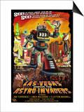 Las Vegas vs. The Astro-Invaders Print by  Lantern Press