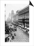 San Francisco, California - Emporium and Market Street Cable Cars Poster by  Lantern Press