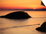 Deception Pass at Sunset from Lighthouse Trail, Whidbey Island, Washington Prints by John Elk III