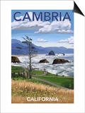 Cambria, California - Rocky Coastline Prints by  Lantern Press