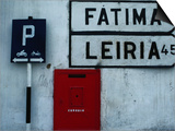 Street Signs and Letterbox in Tomar, Tomar, Ribatejo, Portugal Print by Jeffrey Becom