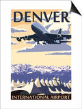 Denver, Colorado - Airport View Posters