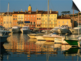Harbour Boats and Waterfront Houses, St. Tropez, Provence-Alpes-Cote d'Azur, France Posters by David Tomlinson