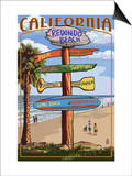 Redondo Beach, California - Destination Sign Posters by  Lantern Press