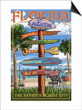 St. Augustine, Florida - Sign Destinations Posters by  Lantern Press