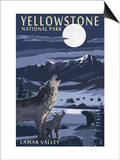 Lamar Valley Scene, Yellowstone National Park Prints by  Lantern Press