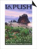 La Push, Washington Coast Prints by  Lantern Press