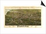 Stamford, Connecticut - Panoramic Map Prints