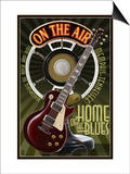 Memphis, Tennessee - Guitar and Microphone Posters by  Lantern Press
