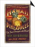 Lantern Press - Hawaiian Pineapple - Reprodüksiyon