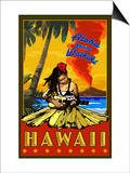 Aloha from Waikiki, Hawaii Prints