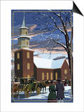 Bruton Parish - Williamsburg, Virginia Print by  Lantern Press
