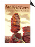 Colorado Springs, Colorado - Garden of the Gods, Balanced Rock Posters by  Lantern Press