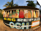 Surfboard Repair Shop, which has a Thriving Trade Due to the Heavy Waves Prints by Paul Kennedy