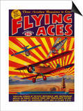 Flying Aces Magazine Cover Prints by  Lantern Press
