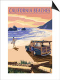 California Beaches - Woody on Beach Prints