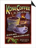 Kona Coffee - Hawaii Print by  Lantern Press