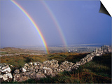 Rainbow Over Stone Walls, Ireland Prints by Gareth McCormack