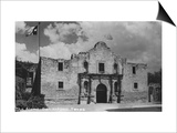 San Antonio, Texas - The Alamo Print by  Lantern Press