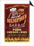 Memphis, Tennessee - Barbecue Posters by  Lantern Press