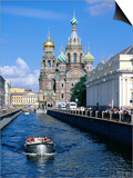 Griboedova Canal and Church of the Spilled Blood, St. Petersburg, Russia Posters by Jonathan Smith