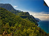 Na Pali Coast, as Seen from the Kalalau Trail Art by Merten Snijders
