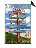 Nantucket, Massachusetts - Sign Destinations Prints by  Lantern Press