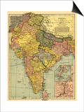 India - Panoramic Map Posters by  Lantern Press