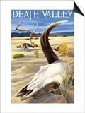 Cow Skull - Death Valley National Park Print by  Lantern Press