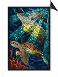 Sea Turtle - Paper Mosaic Posters by  Lantern Press
