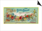 Fleurs D Ethiopie Soap Label - Paris, France Taide tekijänä  Lantern Press