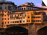 Ponte Vecchio, Florence, Tuscany, Italy Poster by Dallas Stribley