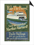 Martha's Vineyard, Massachusetts - Ferry Ride Prints by  Lantern Press