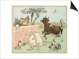 The Cow Jumped Over the Moon Poster by Randolph Caldecott
