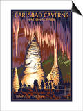 Carlsbad Caverns National Park, New Mexico - Temple of the Sun Prints by  Lantern Press