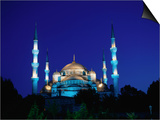 The Blue Mosque of Sultan Ahmed I and Hagia Sophia or Ayasofya, Istanbul, Istanbul, Turkey Prints by Izzet Keribar