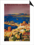 Syria - French Travel Poster, Touring in Syria Poster