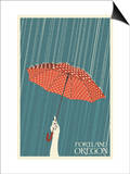 Portland, Oregon - Umbrella Posters by  Lantern Press